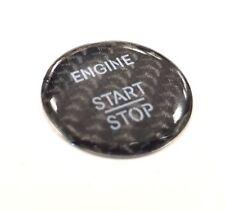 BMW 5 Series F10/F11/F07/F18 Engine Start Stop Button  sticker - carbon effect