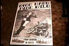 RIDE WILD RIDE HARD ORIG MOVIE POSTER VINTAGE SEXPLOITATION BIKER