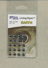 Fish Skull - Living Eyes - 6.0 mm - earth  quantity 20     FS-LE-E6
