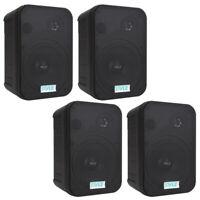 Lot of (4) Pyle PDWR50B 6.5-Inch Indoor/Outdoor Waterproof Speakers (Black)