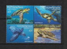 2002 Cocos Keeling Islands Turtles SG 393/6 muh block four set