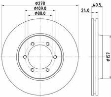 MINTEX MDC1370 BRAKE DISC Front