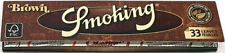 Smoking Brown King Size Cigarette Papers (Pack of Five Booklets)