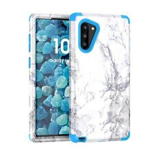 For Samsung Galaxy Note 10 Plus Marble Hybrid Hard Back Shockproof Case Cover