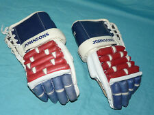 Vintage Johnsons HOCKEY GLOVES J-56 RARE Red White & Blue Colors Nice Cond!