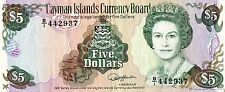 B016 1991 CAYMAN ISLANDS $5 DOLLARS  GREAT CONDITION BEAUTIFUL BANKNOTE