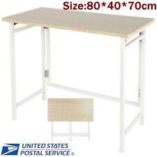 Folding Computer Desk PC Laptop Wood Table Workstation Home Office Furniture US