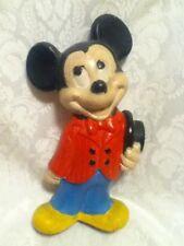 "VINTAGE 1970s 80s Walt Disney Prod Hand Painted 9"" Ceramic Mickey Mouse Figurine"