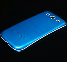 Akkudeckel Samsung i9300/ Galaxy S3 LTE -Metall/Alu/Battery Cover (Blau)
