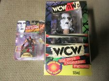 "WCW - WORLD CHAMPIONSHIP WRESTLING -"" STING"" BOBBLE HEAD Plus Key chain!!!"