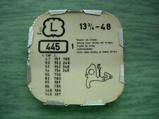1 Landeron 47 48 50 51 148 54 55 86 148  248 254 348 part 445 frein tirette N32