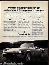 1972 TRIUMPH Spitfire Convertible Sports Car Photo AD