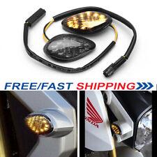 2pcs Fit 04-19 Honda Grom CBR Turn Signals Light Front Amber LED Flush Mount USA