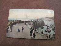 1914 fr postcard - social scene on the Jetty - Broadstairs Kent