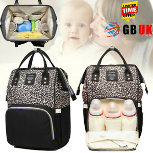 LEQUEEN Baby Diaper Bag Mummy Maternity Nappy Changing Backpack Travel Bag Large