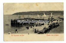 h1424 - Isle of Wight - Cowes - Esplanade, Pier & Horse & Cabs, c1904 - Postcard