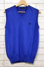 Maglione FRED PERRY Smanicato Bimbo Junior Taglia 14 anni Maglia Shirt Blu