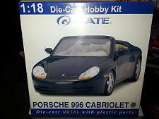 GATE 1.18 DIE-CAST HOBBY MODEL  KIT PORSCHE 996 CABRIOLET SILVER