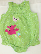 Gymboree NWT 3-6 months BABY SEAHORSE Green polka dot Bubble ROMPER Pink Crabs