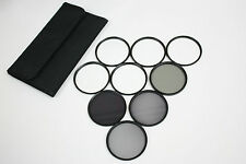 67MM 4X 6X 8X STAR ND2+ND4+ND8 ND+UV+Soft+CPL FILTER SET with CASE for DSLR DC