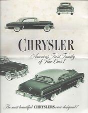 RARE VINTAGE ORIGINAL 1953 CHRYSLER AUTOMOBILE BROCHURE