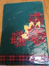 Xmas Green &Red Small Square Centre Tablecloth.New.