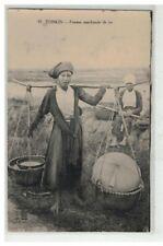 TONKIN INDOCHINE VIETNAM SAIGON #18669 FEMME MARCHANDE DE RIZ
