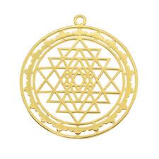 Sri Yantra Pendant Charms Sacred Geometry Talisman Meditation Jewelry 1Pc