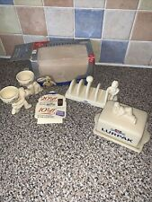 More details for lurpack collectables - butter dish, egg cups and toast holder (boxed)