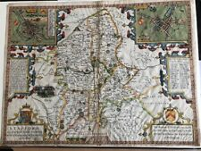 John Speed. Staffordshire Original Map. Dated 1610. Good colour.
