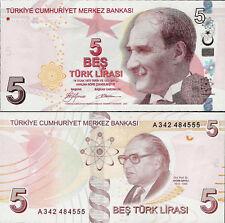 Turkey 2009 - 5 lirasi - Pick 222 UNC