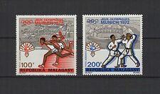 Jeux Olympiques Munich 1972 MADAGASCAR  2 timbres aériens  / T1505