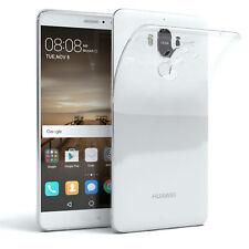 Schutz Hülle für Huawei Mate 9 Case Silikon Handy Cover Transparent
