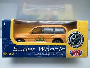 Motor Max / Toyota Land Cruiser 100 Series - Station Wagon - Yellow - Model Car