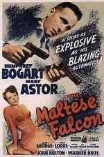 Metal Sign Maltese Falcon The 1941 01 A4 12x8 Aluminium
