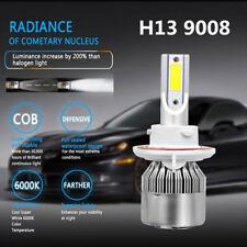 2PCS 72W H13/9008 6000K Hi/Low Beam Light COB LED Headlight Conversion Kit White
