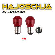 2 x Glühbirnen Glühlampe rot Bremslicht Rücklicht  12V 21/5W BAW15d   PR21/5W
