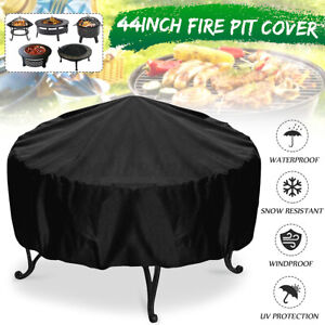 Large Fire Pit Cover Heavy Duty Folding Waterproof UV Resistant Outdoor Patio