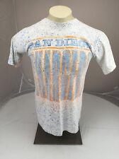 Vtg SAN DIEGO Chargers blue  splatter all over print MLB souvenir tee M USA