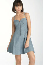 $138 French Connection Marie Chambray Corset Dress 10 M