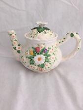 Burton And Burton Hand-painted Flower Garden Tea Pot