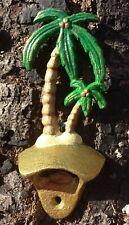 Cast Iron Palm Tree Bottle Opener ~Handpainted~ Beach ~Tiki Bar~ Wall Mounted