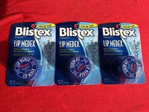 Lot of 3 Blistex Lip Medex External Analgesic Value Size - 0.38 oz
