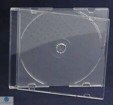 20 CD SINGOLA JEWEL CASE ULTRA SLIM 5,2 mm satinato chiaro vuoto RICAMBIO HQ AAA