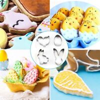 4pcs Stainless Steel Cookie Cutter Biscuits Easter Egg Rabbit Bake Fondant Mould