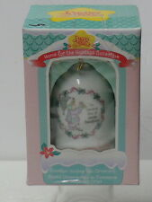 PRECIOUS MOMENTS > PORCELAIN HOLIDAY BELL ORNAMENT> COMPLETE PACKAGE