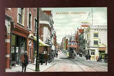 Northamptonshire Northants NORTHAMPTON Gold St Tram c1900s PPC Palace Theatre