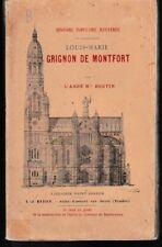 BOUTIN - LOUIS MARIE GRIGNION DE MONTFORT - LIVRE ANCIEN RARE