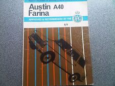 Austin A40 Farina Pearson's Car Servicing Workshop Manual Meets Handbook