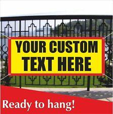 Your Custom Text Here Banner Vinyl Mesh Banner Sign Individual Order Design